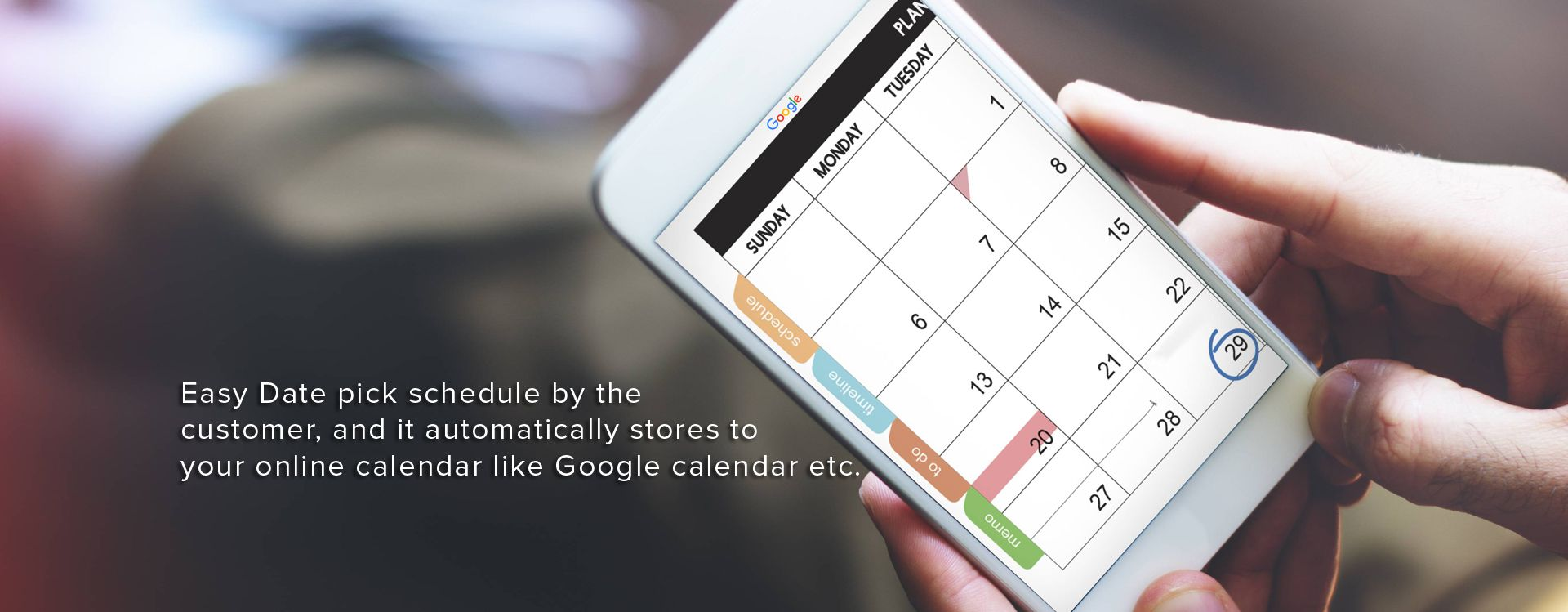 Easy Date pick schedule by the customer | easy salon sofware
